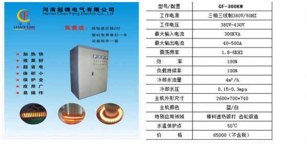 超锋超锋CF-300KW中频炉及产品运用 1