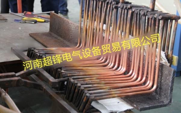 河北客户大角钢整体中频透热处理 1